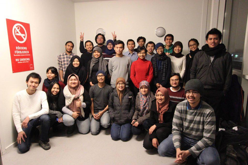sebagian dari mahasiswa Indonesia di Stockholm
