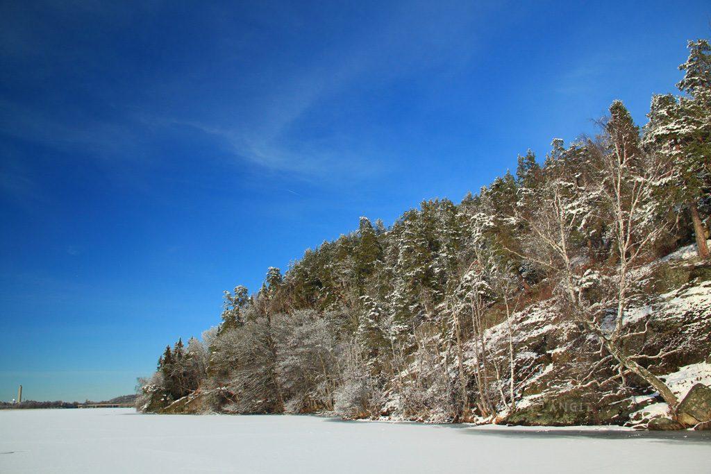 Hutan Flottsbro dan danau beku
