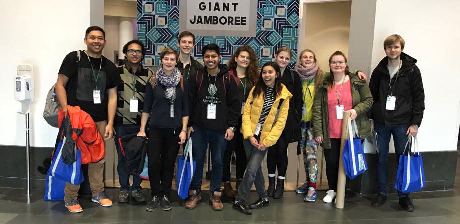 Perwakilan tim iGEM Uppsala di Giant Jamboree 2017