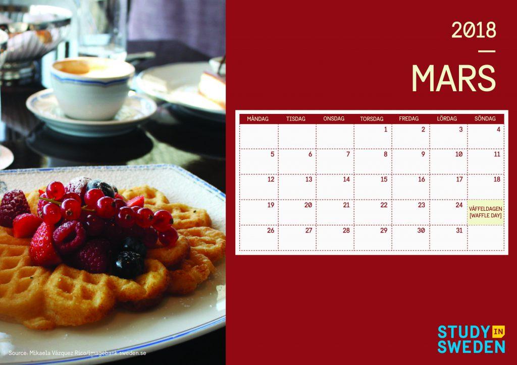 Kalender Maret